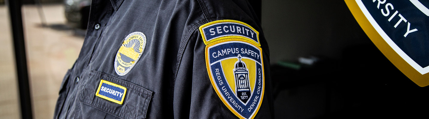 campus safety officer shirt and badge