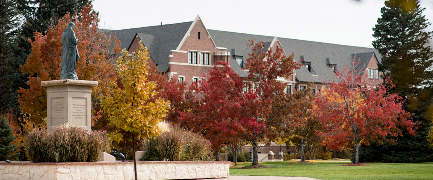 Boetcher Commons in fall