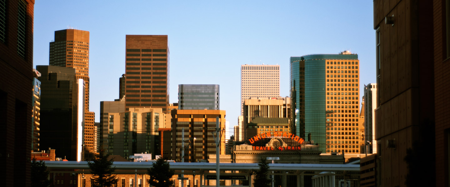 denver business buildings and union station