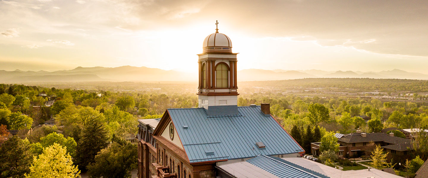 Regis University campus in summer