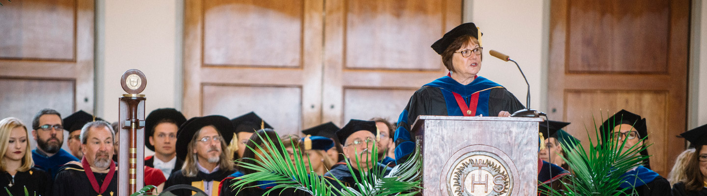 provost speaks at convocation