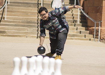 Bowling activity on campus
