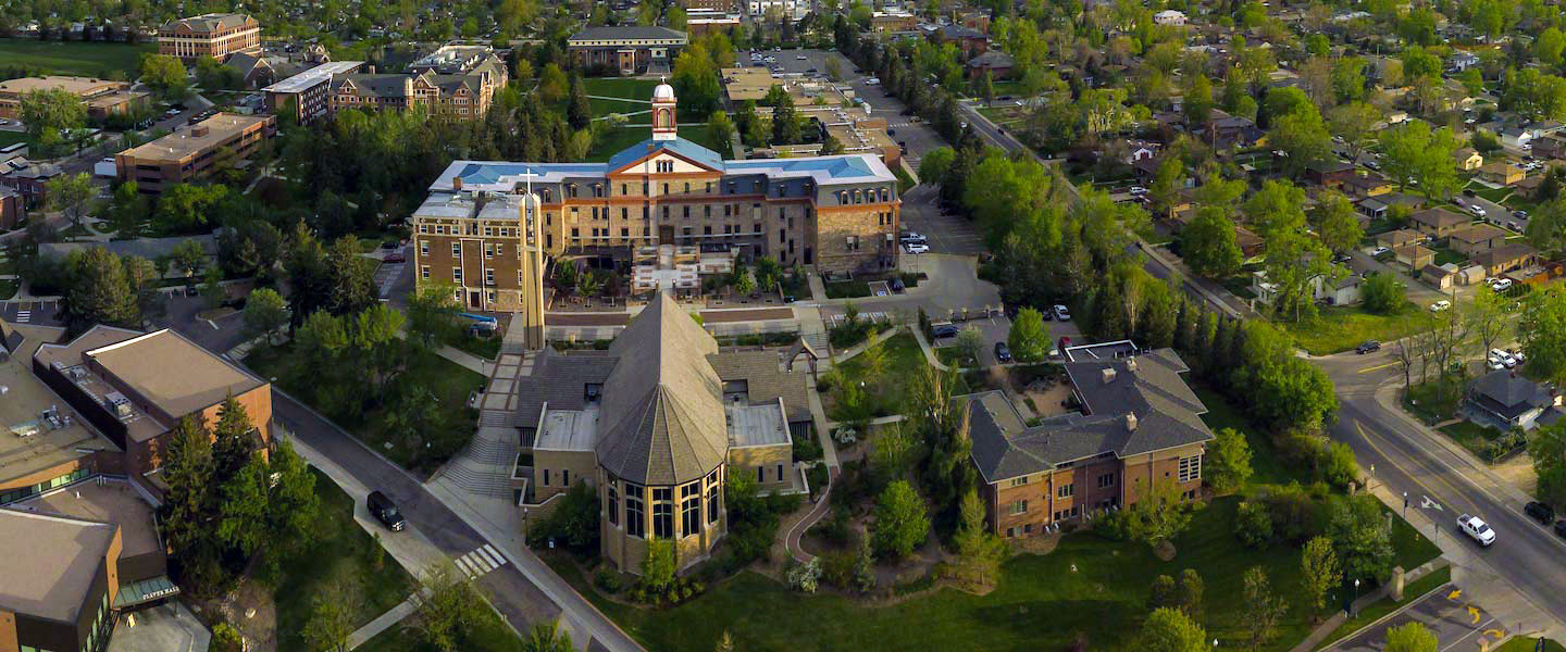 aerial view of Northwest Denver campus
