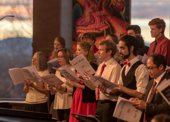 Choir singing in Chapel