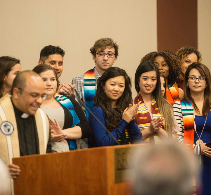 students at diversity ceremony