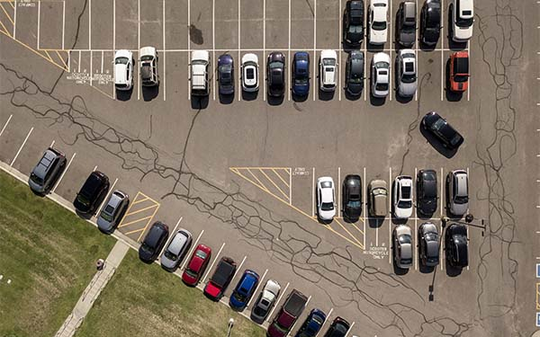 parking lot aerial view image