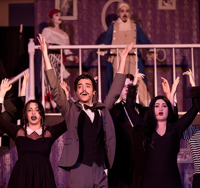 Performance of Addams Family musical by Regis Ramblers