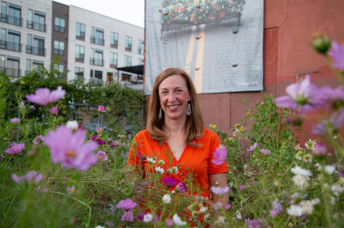 Amy Berryman using the power and energy from flowers to heal psyches