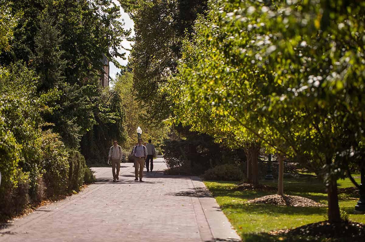 Students walking the Northwest Denver campus