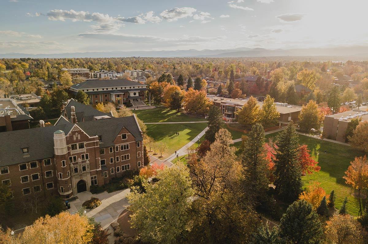 Ariel view of Carroll Hall