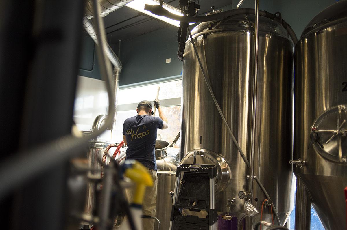 brew master brewing beer