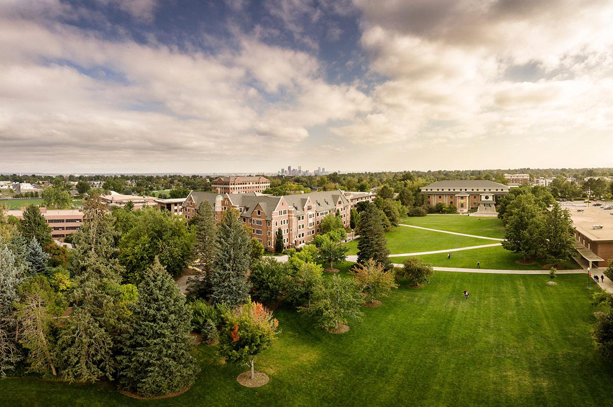 Arial view of Regis campus